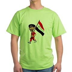 Cute 3D Iraq Flag T-Shirt