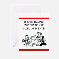 rhode island Greeting Cards