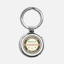 Telemarketer Vintage Round Keychain