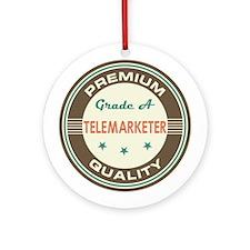 Telemarketer Vintage Ornament (Round)