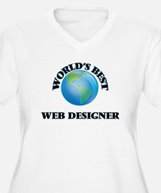 World's Best Web Designer Plus Size T-Shirt