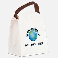 World's Best Web Designer Canvas Lunch Bag