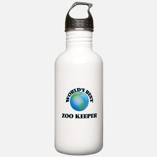 World's Best Zoo Keepe Water Bottle