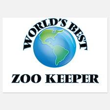 World's Best Zoo Keeper Invitations