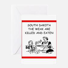 south dakota Greeting Cards