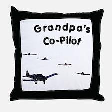 Grandpa's Co-Pilot Throw Pillow