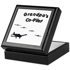 Grandpa's Co-Pilot Keepsake Box
