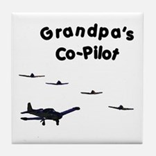 Grandpa's Co-Pilot Tile Coaster