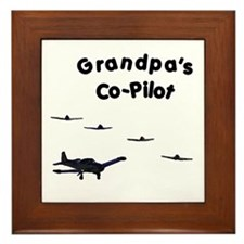 Grandpa's Co-Pilot Framed Tile