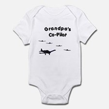 Grandpa's Co-Pilot Infant Bodysuit