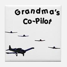 Grandma's Co-Pilot Tile Coaster