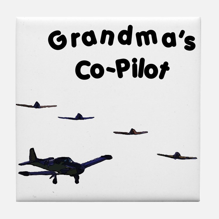 Grandma's Co-Pilot Tile Coaster