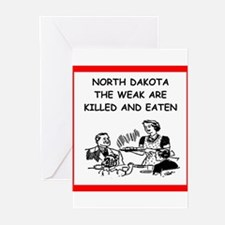 north dakota Greeting Cards