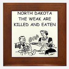 north dakota Framed Tile