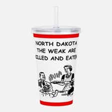 north dakota Acrylic Double-wall Tumbler