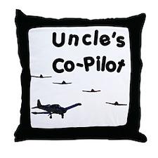 Uncle's Co-Pilot Throw Pillow
