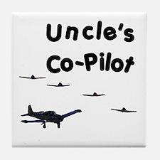 Uncle's Co-Pilot Tile Coaster