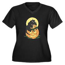 Black Cat and Pumpkin Plus Size T-Shirt