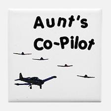 Aunt's Co-Pilot Tile Coaster