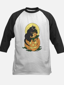 Black Cat and Pumpkin Baseball Jersey