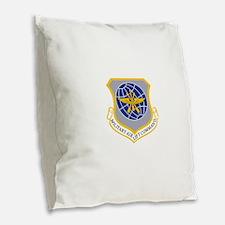 Military Airlift Command MAC.p Burlap Throw Pillow