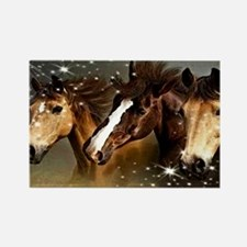 Sky Horses Rectangle Magnet