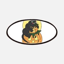 Black Cat and Pumpkin Patches