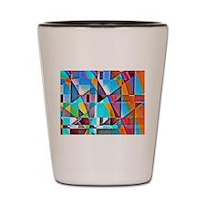 Cubist Rolling Hills Shot Glass