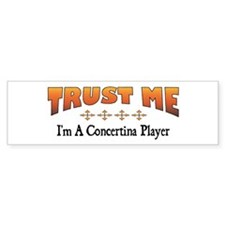 Trust Concertina Player Bumper Bumper Sticker