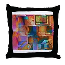 Angular Ocular Throw Pillow