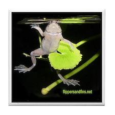 Unique Frogs tote Tile Coaster