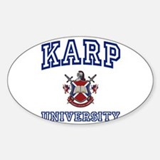 KARP University Oval Decal