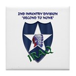 2ND INFANTRY DIVISION, IRAQ Tile Coaster