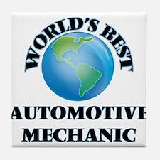 World's Best Automotive Mechanic Tile Coaster