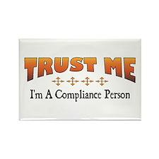 Trust Compliance Person Rectangle Magnet