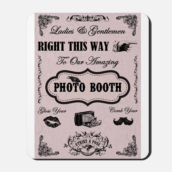 PHOTO BOOTH SIGN Mousepad