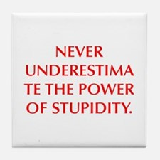 NEVER UNDERESTIMATE THE POWER OF STUPIDITY Tile Co