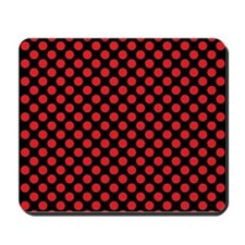 Red Polka Dots Mousepad