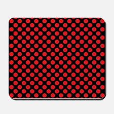 Red Polka Dots Mousepad