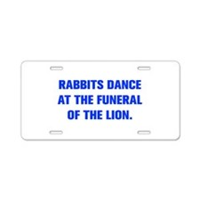 RABBITS DANCE AT THE FUNERAL OF THE LION Aluminum
