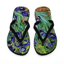 van gogh irises, st. remy Flip Flops