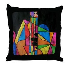 Playing the Bass Throw Pillow