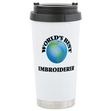 World's Best Embroidere Travel Mug