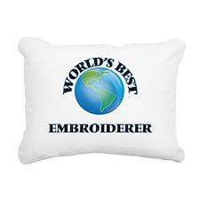 World's Best Embroiderer Rectangular Canvas Pillow