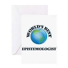 World's Best Epistemologist Greeting Cards
