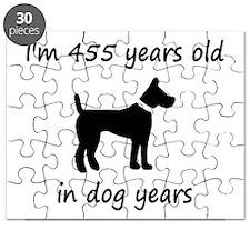 65 dog years black dog 1C Puzzle