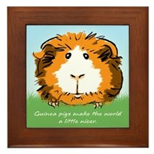 Guinea pigs make the world... Framed Tile
