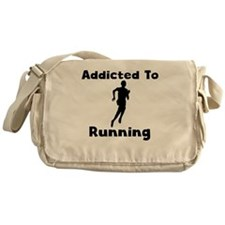 Addicted To Running Messenger Bag