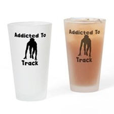 Addicted To Track Drinking Glass