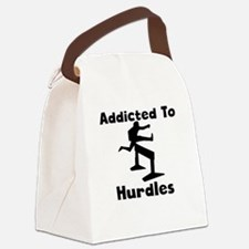 Addicted To Hurdles Canvas Lunch Bag